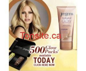 Échantillons de produits Jergens Natural Glow et Sheer Blonde Glow!