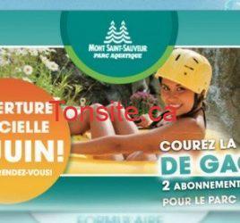 Gagnez un passe pour les glissades d'eau du Mont St-Sauveur!