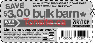 Coupon-rabais de 3$ chez Bulk Barn!!
