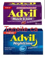 Coupons rabais de grande valeur pour Advil !!