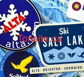 Échantillons gratuits d'autocollants de ski!