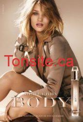Obtenez votre échantillon GRATUIT du parfum Burberry Body !!