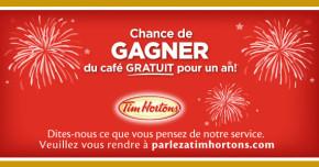 Gagnez un an de café Tim Hortons