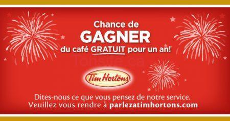 concours tim horton café pour un an 570 - Gagnez un an de café Tim Hortons