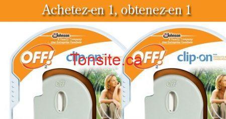 Offre recharge gratuite Clip-on OFF