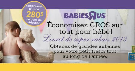 "280 $ de coupons Babies ""R"" Us"