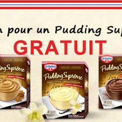 Coupon Pudding Suprême Dr. Oetker gratuit