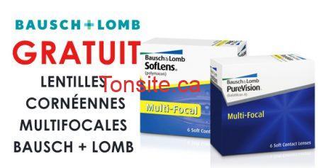 Lentilles multifocales Bausch + Lomb gratuites
