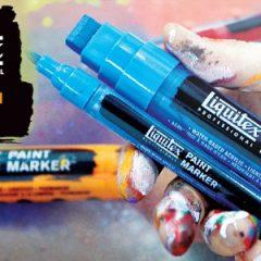 Échantillon Liquitex Paint Marker, Acryliques ou Peinture aérosol