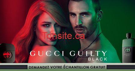 Échantillon gratuit de parfum Gucci Guilty Black