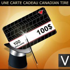 Gagner une carte cadeau de 100$ de chez Canadian Tire!