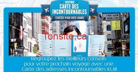 Recevez une carte de voyage gratuite de KLM