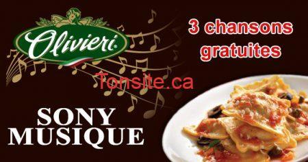 Chansons gratuites des pâtes Olivieri