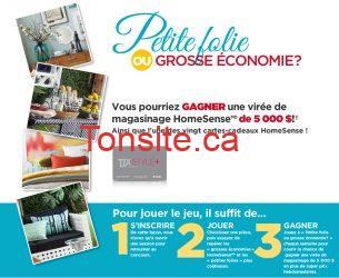 Concours HomeSense : gagnez une virée magasinage de 5 000$!