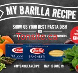 Gagnez 1 an de pâtes Barilla