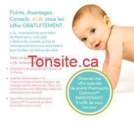 Rejoignez v.i.b. Pharmaprix et obtenez des échantillons pour bébé