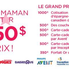 Concours Thyme Maternité : gagnez 3 350$ en prix!!