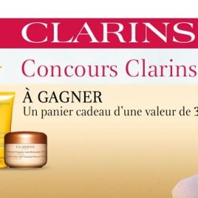 Concours Clarins ; gagnez un panier cadeau de 300$!