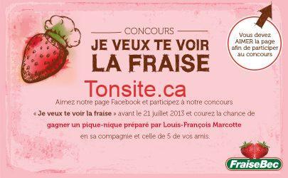 Concours FraiseBec : gagnez un pique-nique préparé par le chef Louis-François Marcotte!