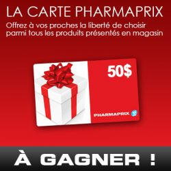 gagner une carte cadeau pharmaprix de 50. Black Bedroom Furniture Sets. Home Design Ideas