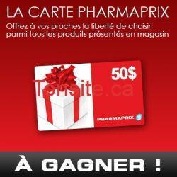 Gagner une carte cadeau Pharmaprix de 50$ !!