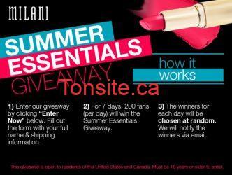 Courez la chance d'etre parmis les 1400 gagnants d'un prix pack Milani Summer Essentials !