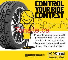 Gagnez 4 pneus Continental de 900$ !