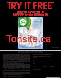 air wick coupon - Ensemble de départ d'huile parfumée d'Air Wick gratuit après la remise postale!