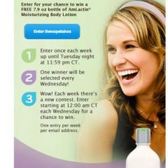 Obtenez un échantillon d'une bouteille hydratante pour le corps AmLactin 15h53 -