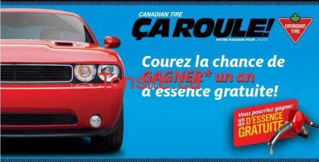 Gagnez un an d'essence chez Canadian Tire