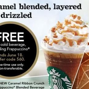 Coupon rabais pour une boisson GRATUITE chez Starbucks!