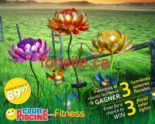 Concours Club Piscine : gagnez 3 lumières à énergie solaire pour décorer votre parterre!