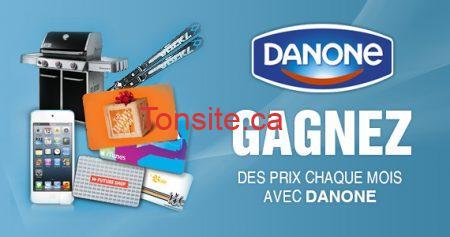 Des prix chaque mois avec Danone!