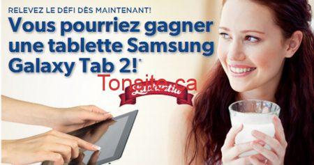Gagnez une tablette Samsung avec Lactancia !