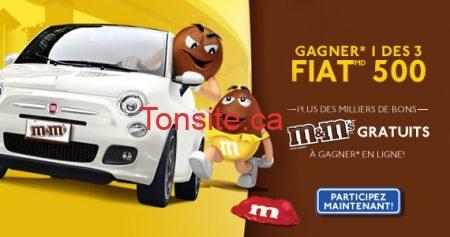 Gagnez 1 des 3 Fiat 500 avec M&M's
