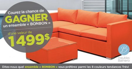 Gagnez un mobilier de jardin « Bonbon »!