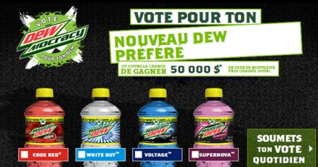 Gagnez 50 000 $ avec Mountain Dew