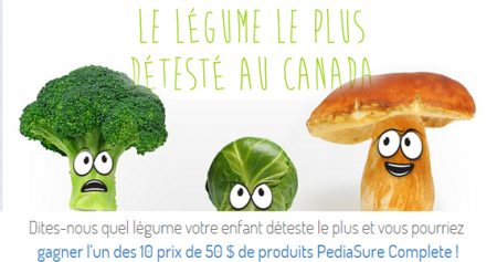 Gagner 50 $ de produits PediaSure