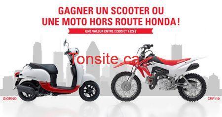 Gagnez un scooter ou un VTT Honda