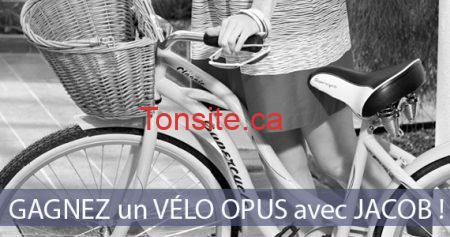 Gagnez un vélo Opus avec Jacob !