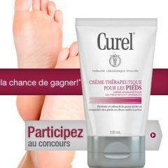 Gagner une crème thérapeutique pour les pieds Curel