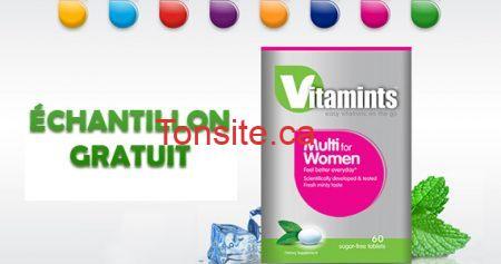 Recevez un échantillon de Vitamints !