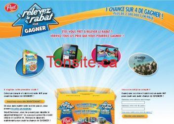 Boîte de céréales POST gratuite !!