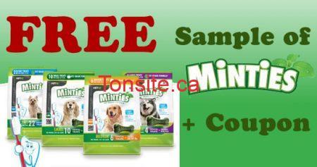Échantillon gratuit de Minties pour votre chien !