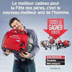 gagnez 5 Produits Mécaniques Honda pour le garage de votre papa!