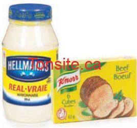 Un Knorr gratuit (6 cubes) à l'achat d'une mayonnaise Hellmann !