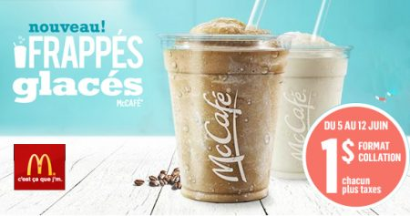 McDonald's : votre boisson McCafé pour 1$ seulement!