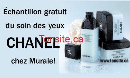 Echantillon GRATUIT du soin des yeux Chanel chez Murale!