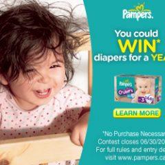 Gagnez des couches gratuite pendant un an pour votre bébé