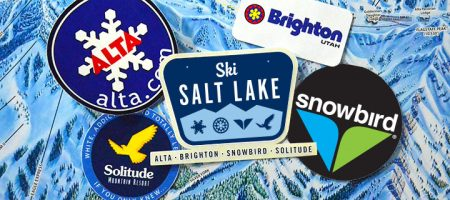 ski salt lake - Échantillon gratuit autocollant Salt Lake !